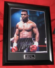 MIKE TYSON SIGNED  MATTED FRAMED LARGE BOXING CERTIFIED AUTHENTIC IRON MIKE